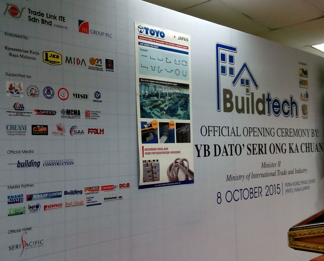 BizBuildUp Elevation Media Partner BuildTech 2015 Opening Ceremony