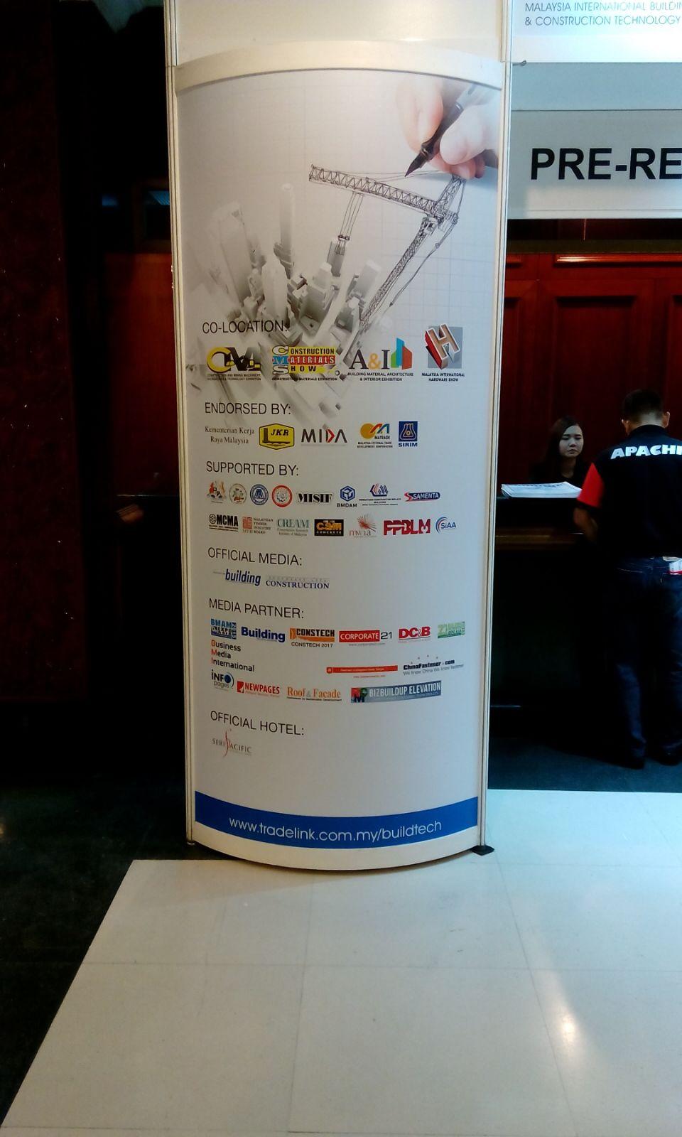 BizBuildUp Elevation Media Partner BuildTech 2015 Pillar Near Registration Booth
